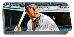 Mickey Mantle Portable Battery Charger by Florian Rodarte