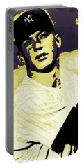 Mickey Mantle Poster Art Portable Battery Charger by Florian Rodarte