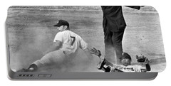 Mickey Mantle Steals Second Portable Battery Charger by Underwood Archives