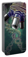 Microscope Dna Strands Portable Battery Charger
