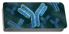 Microscopic View Of Immunoglobulin G Antibodies. Portable Battery Charger