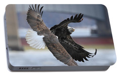 Portable Battery Charger featuring the photograph Mid Air Fight by Coby Cooper