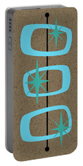 Mid Century Modern Shapes 1 Portable Battery Charger