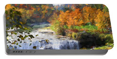 Portable Battery Charger featuring the photograph Middle Falls At Letchworth State Park by John Freidenberg