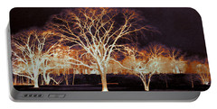 Portable Battery Charger featuring the photograph Midnight Glow by Shawna Rowe