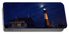 Midnight Moon Over Tybee Island Portable Battery Charger