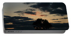 Portable Battery Charger featuring the photograph Farm Pasture Midnight Sun  by Neal Eslinger