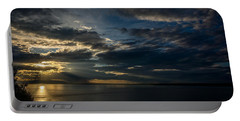 Midnight Sun Over Cook Inlet Portable Battery Charger by Andrew Matwijec