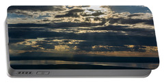 Midnight Sun Over Mount Susitna Portable Battery Charger by Andrew Matwijec