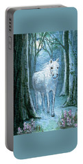 Portable Battery Charger featuring the painting Midsummer Dream by Terry Webb Harshman