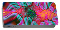 Portable Battery Charger featuring the digital art Migraine by Elizabeth McTaggart