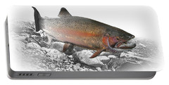 Migrating Steelhead Rainbow Trout Portable Battery Charger by Randall Nyhof