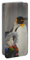 Mika And Penguin Portable Battery Charger