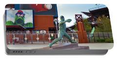Steve Carlton Statue - Phillies Citizens Bank Park Portable Battery Charger