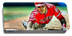 Mike Trout Painting Portable Battery Charger