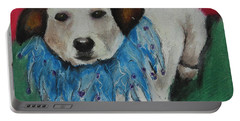 Portable Battery Charger featuring the painting Mikey by Jeanne Fischer