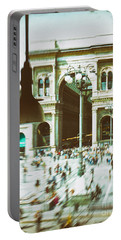 Portable Battery Charger featuring the photograph Milan Gallery by Silvia Ganora