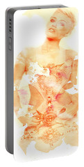 Portable Battery Charger featuring the digital art Miley by Brian Reaves