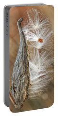 Milkweed Pod And Seeds Portable Battery Charger