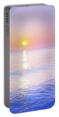 Portable Battery Charger featuring the photograph Milky Sunset by Lilia D