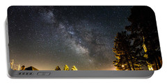 Milky Way From Oldham South Dakota Usa Portable Battery Charger