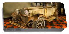 Millers Chop Shop 1929 Dodge Victory Six Before Portable Battery Charger by Yo Pedro