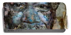 Portable Battery Charger featuring the painting Million Dollar Baby by Laur Iduc