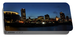 Portable Battery Charger featuring the photograph Milwaukee City Scape Panorama by Deborah Klubertanz