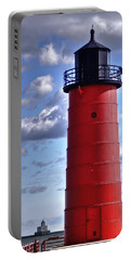 Portable Battery Charger featuring the photograph Milwaukee Pierhead Light by Deborah Klubertanz