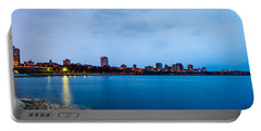 Portable Battery Charger featuring the photograph Milwaukee Skyline - Version 1 by Steven Santamour