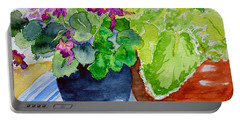 Mimi's Violets Portable Battery Charger by Beverley Harper Tinsley