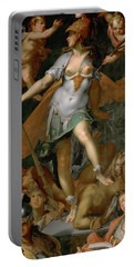 Minerva Victorious Over Ignorance Portable Battery Charger