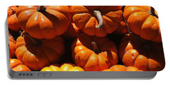 Portable Battery Charger featuring the photograph Mini Fall Pumpkins by Denyse Duhaime