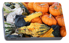 Portable Battery Charger featuring the photograph Mini Pumpkins And Gourds by Cynthia Guinn