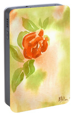 Portable Battery Charger featuring the painting Miniature Red Rose II by Kip DeVore