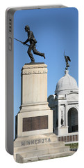 Minnesota And Pennsylvania Monuments At Gettysburg Portable Battery Charger
