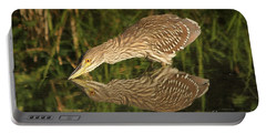 Mirror Mirror On The Wall Who Is The Fairest Heron Of All Portable Battery Charger by Heather King