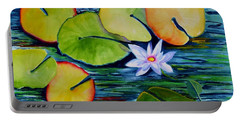 Whimsical Waterlily Portable Battery Charger