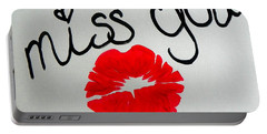 Portable Battery Charger featuring the painting Miss You  by Marisela Mungia