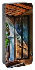 Mission Door Portable Battery Charger by Joan Carroll