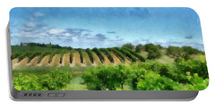 Mission Peninsula Vineyard Ll Portable Battery Charger by Michelle Calkins