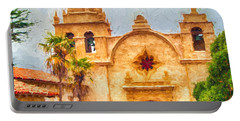 Mission San Carlos Borromeo De Carmelo Impasto Style Portable Battery Charger
