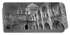 Mission San Jose Arches Bw Portable Battery Charger
