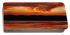 Portable Battery Charger featuring the photograph Mississippi River Sunset by Don Schwartz