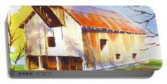 Missouri Barn In Watercolor Portable Battery Charger