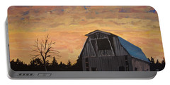 Portable Battery Charger featuring the painting Missouri Barn by Norm Starks