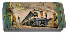 Missouri Pacific Lines Sign Engine 309 Dsc02854 Portable Battery Charger by Greg Kluempers