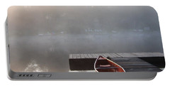 Mist Floating Over The Lake Portable Battery Charger