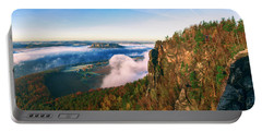 Mist Flow Around The Fortress Koenigstein Portable Battery Charger