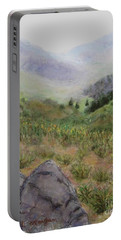 Mist In The Glen Portable Battery Charger by Laurie Morgan